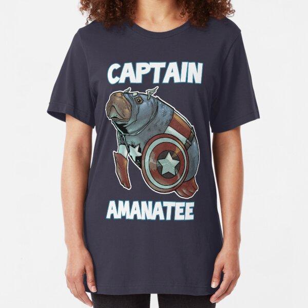 Captain Amanatee SALE! Slim Fit T-Shirt