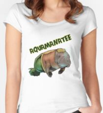Aquamanatee Women's Fitted Scoop T-Shirt