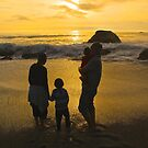 Silhouettes in Gold by Barbara  Brown