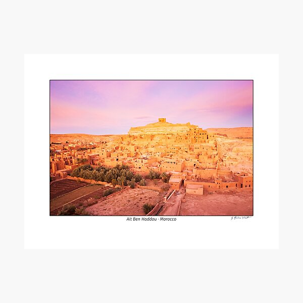Old Town of Ait Ben-Haddou at sunrise, Morocco Photographic Print