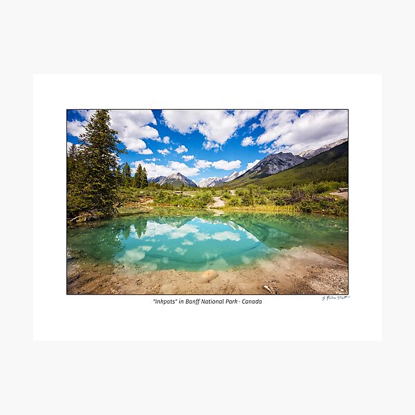 """Inkpots"" in Banff National Park, Alberta, Canada Photographic Print"