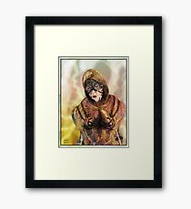 Robot Mother Warrior Framed Print