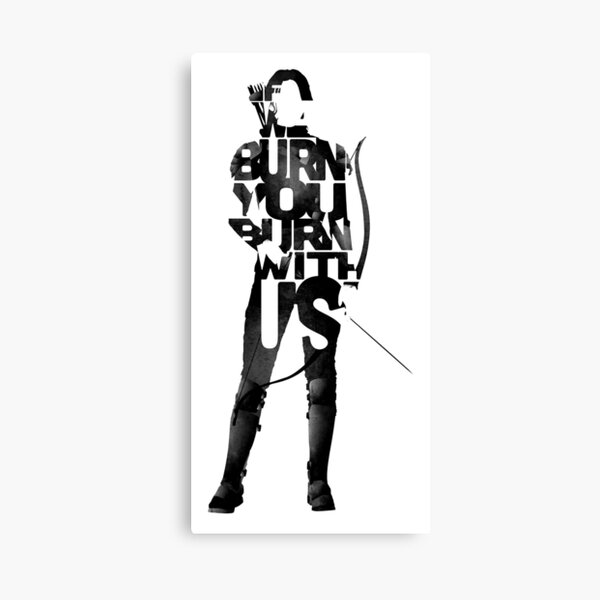 If we burn you burn with us Canvas Print