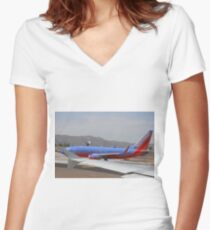 Southwest Airlines Women's Fitted V-Neck T-Shirt