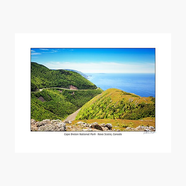A view from the Skyline Hike Trail in Cape Breton National Park, Nova Scotia, Canada Photographic Print