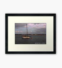 Tranquil Boat Framed Print