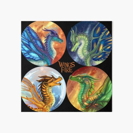 Wings Of Fire Heroes Of The Lost Continent Art Board Print By Biohazardia Redbubble