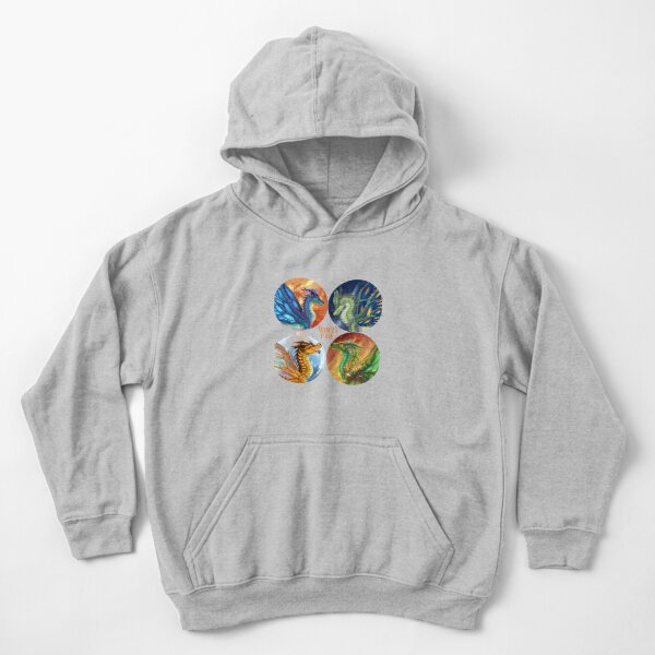Wings of Fire - Heroes of the Lost Continent Kids Pullover Hoodie
