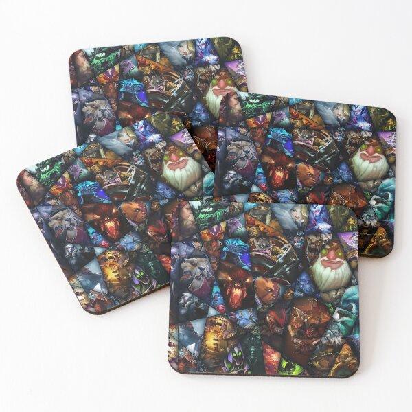 Dota heroes Coasters (Set of 4)