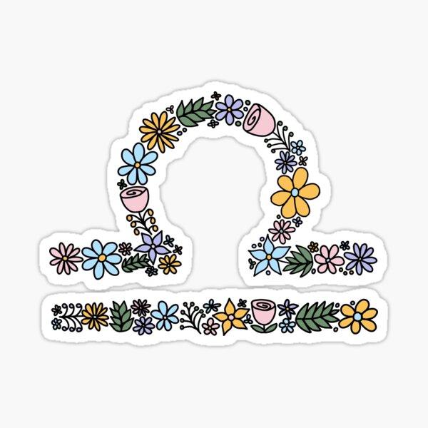 Cute Libra Zodiac Symbol Sticker