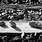 Rail Sleeper Stones by Mick Kupresanin