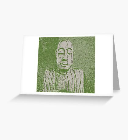 Karma in green Greeting Card