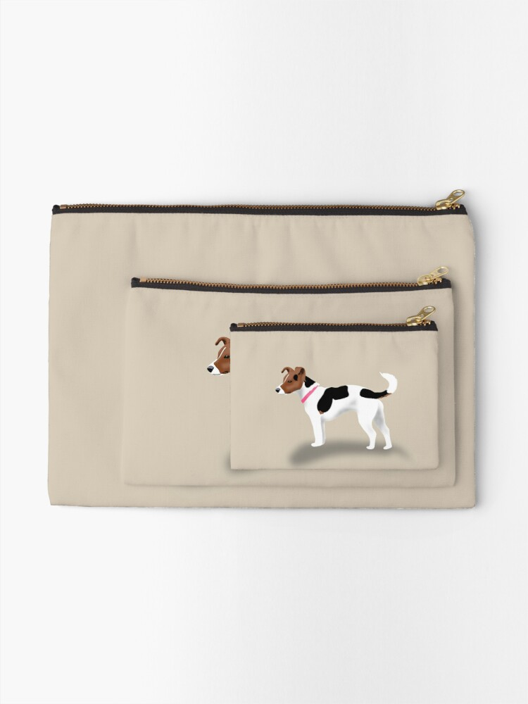 Alternate view of Jack Russell Zipper Pouch
