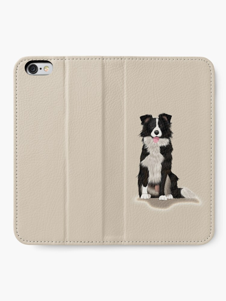 Alternate view of Border Collie iPhone Wallet