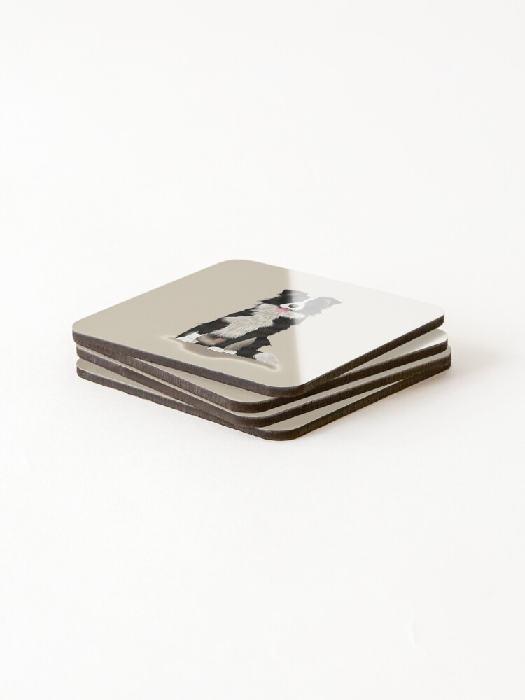 Alternate view of Border Collie Coasters (Set of 4)