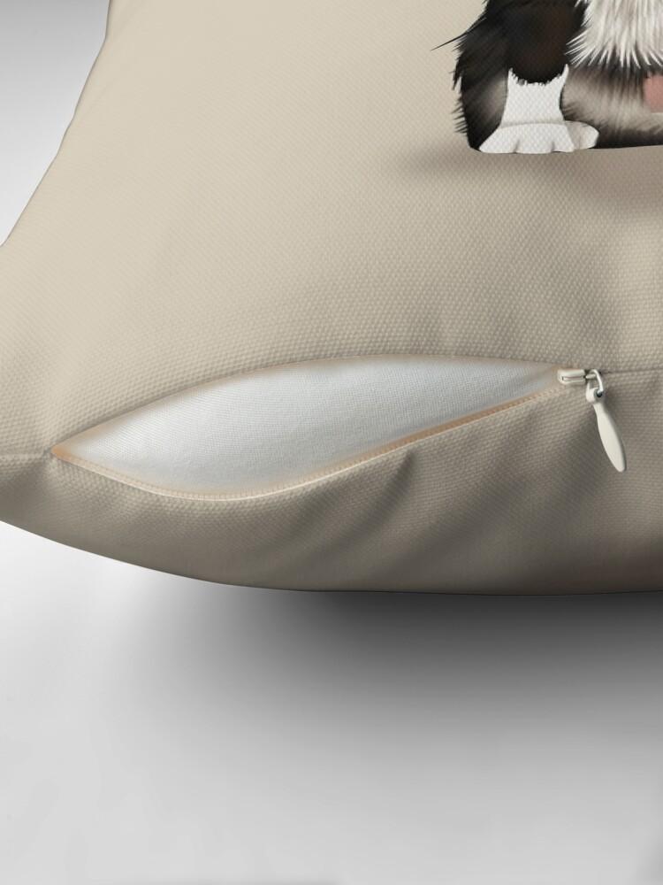 Alternate view of Border Collie Throw Pillow