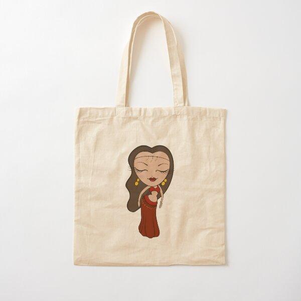 Brunette Bellydancer  Cotton Tote Bag