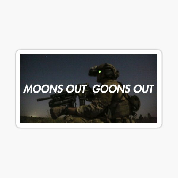 Moons Out Goons Out V2 Sticker