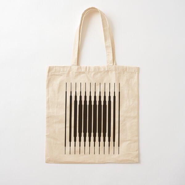 Square Lines (BLACK) Bolsa de algodón