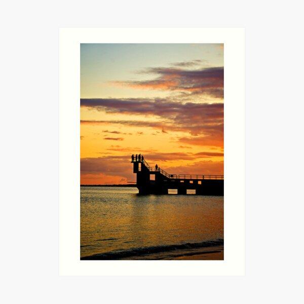 Blackrock sunset Art Print