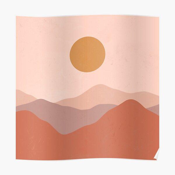 Boho Earthy Landscape  Poster