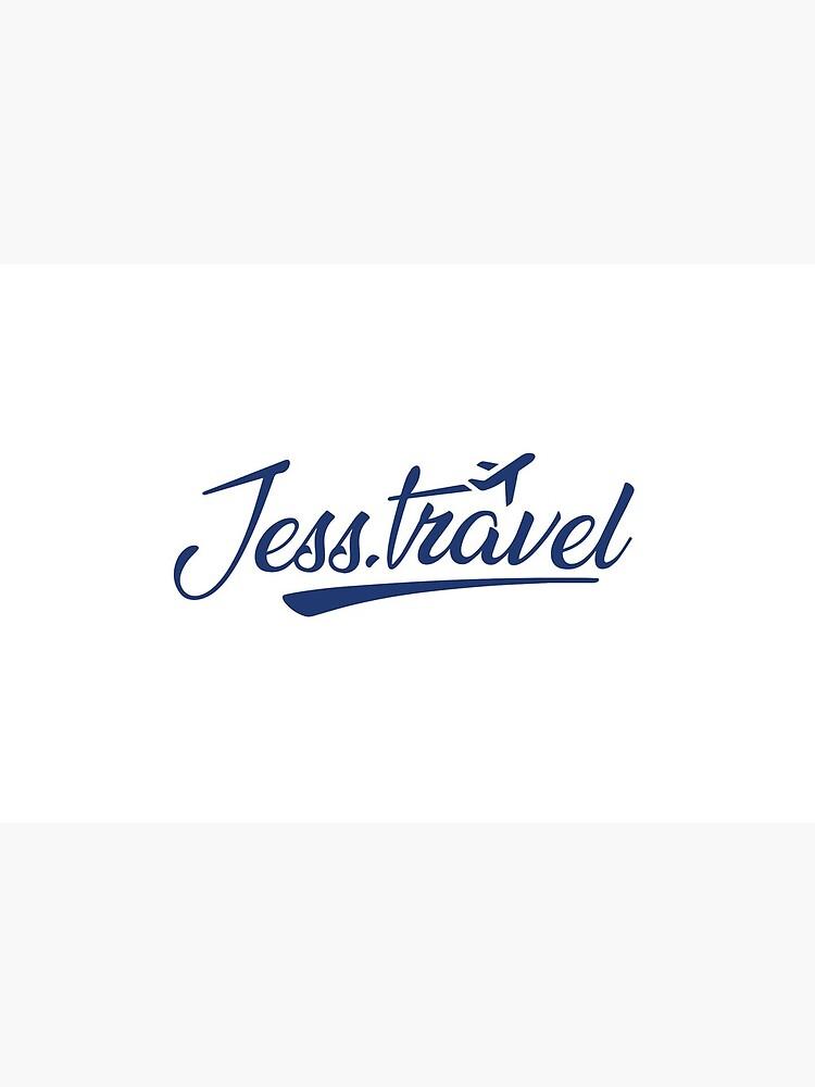 Jess.Travel Logo Reverse Blue by Jess-Travel