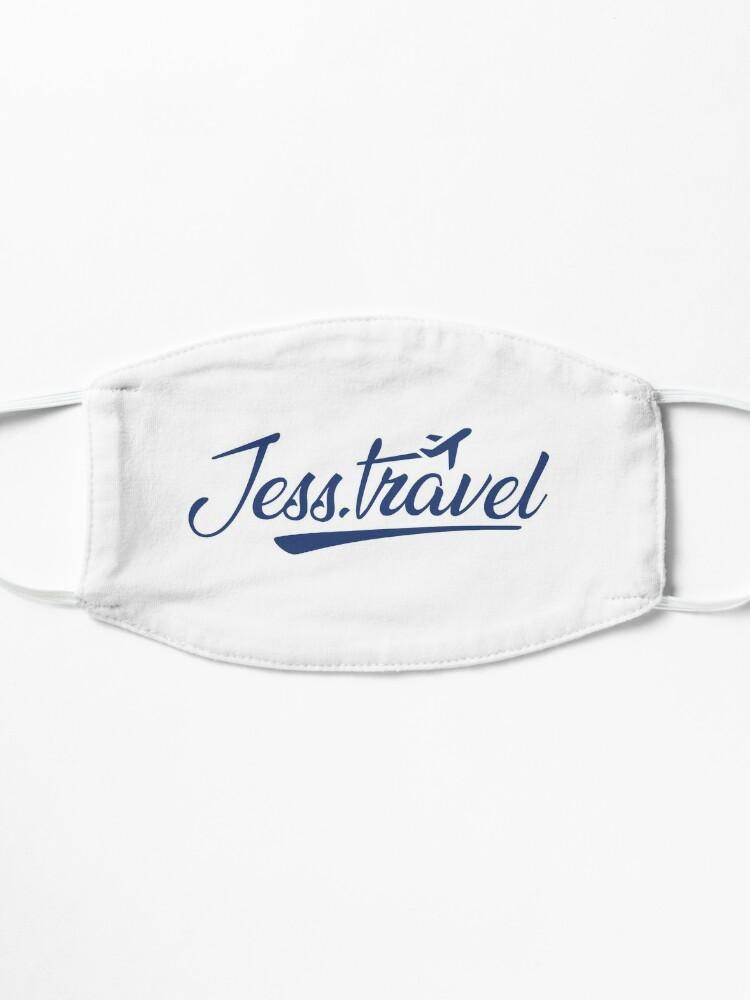 Alternate view of Jess.Travel Logo Reverse Blue Mask