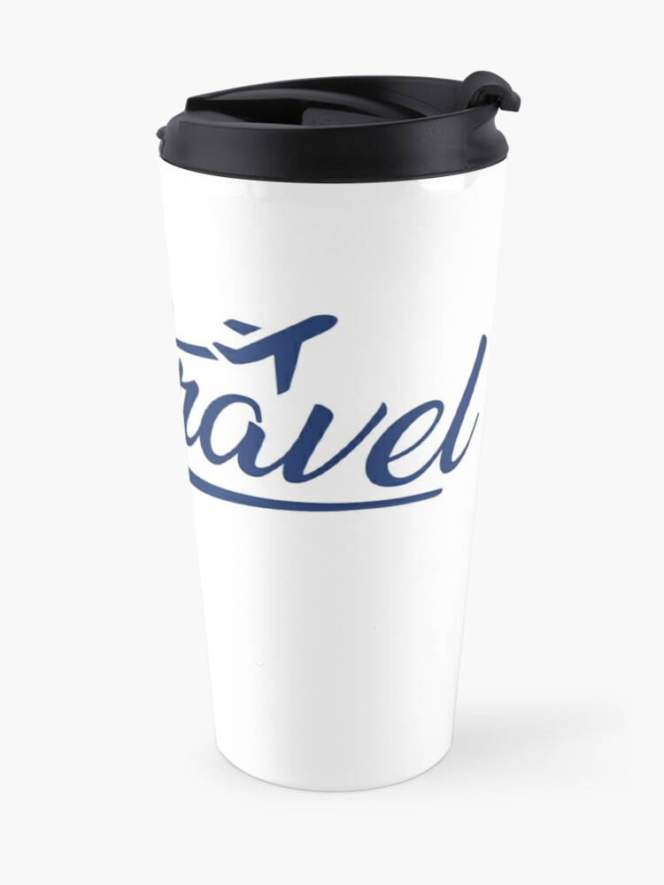 Alternate view of Jess.Travel Logo Reverse Blue Travel Mug