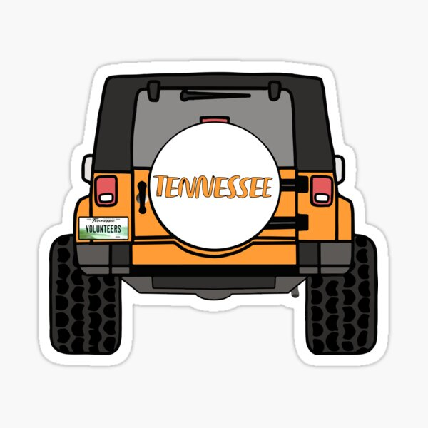 University of Tennessee Jeep Wrangler Sticker