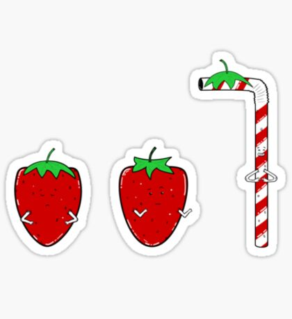 Straw-berry Sticker