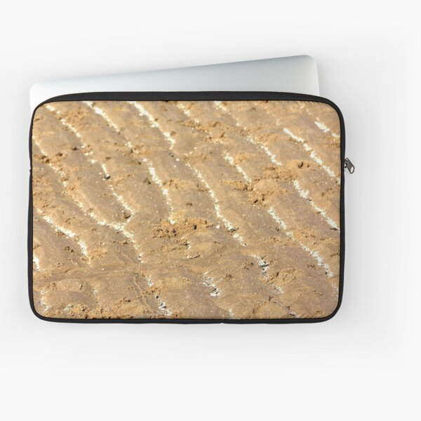 Chalk trails in the sand Laptop Sleeve