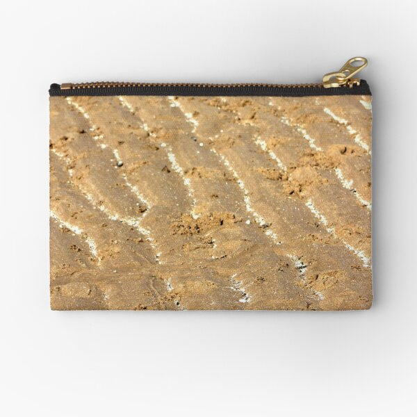 Chalk trails in the sand Zipper Pouch