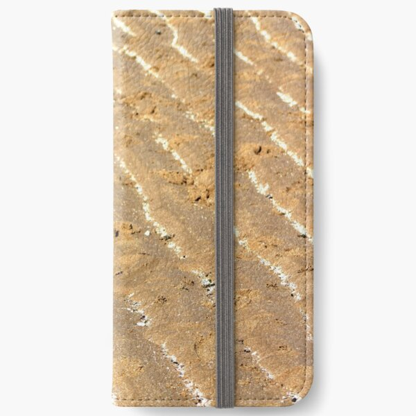 Chalk trails in the sand iPhone Wallet