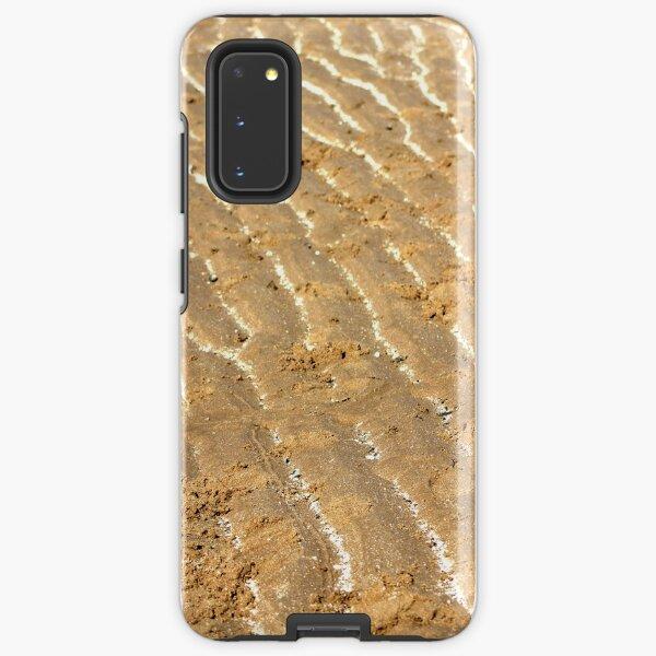 Chalk trails in the sand Samsung Galaxy Tough Case
