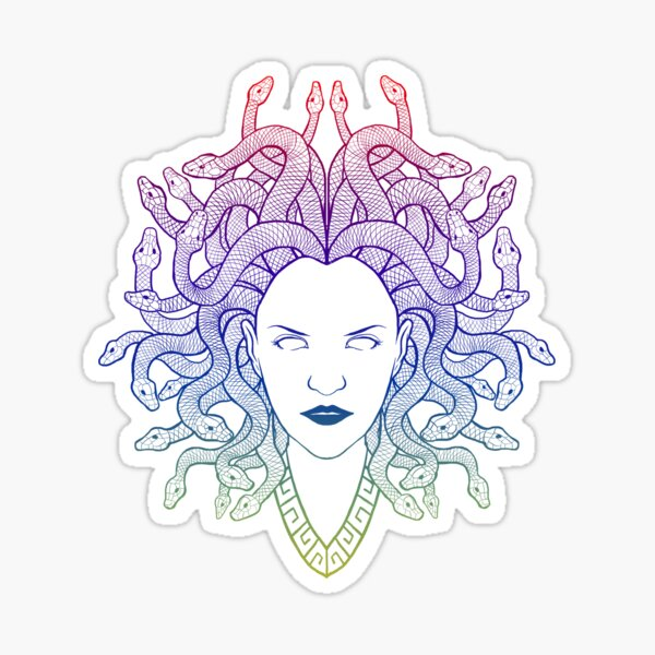 Medusa (colors) Sticker
