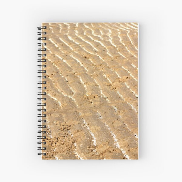 Chalk trails in the sand Spiral Notebook