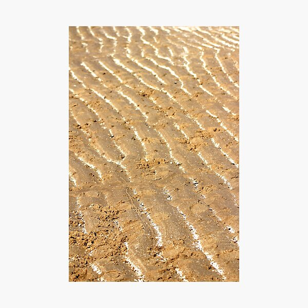 Chalk trails in the sand Photographic Print