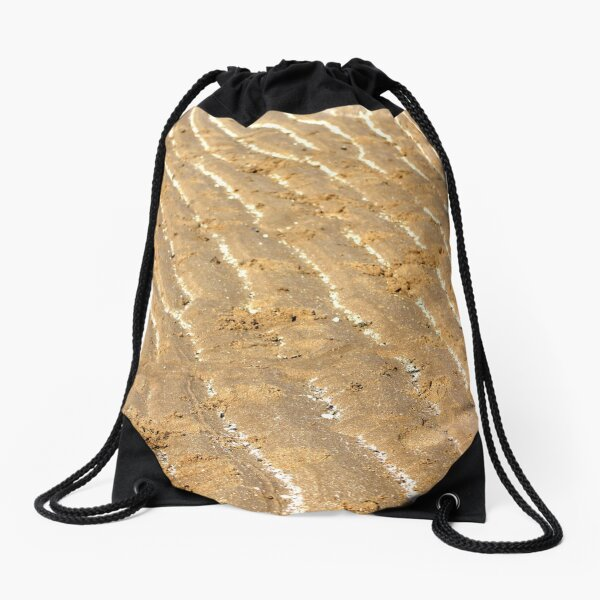 Chalk trails in the sand Drawstring Bag