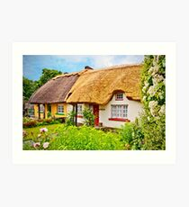 Cottage at Adare Art Print