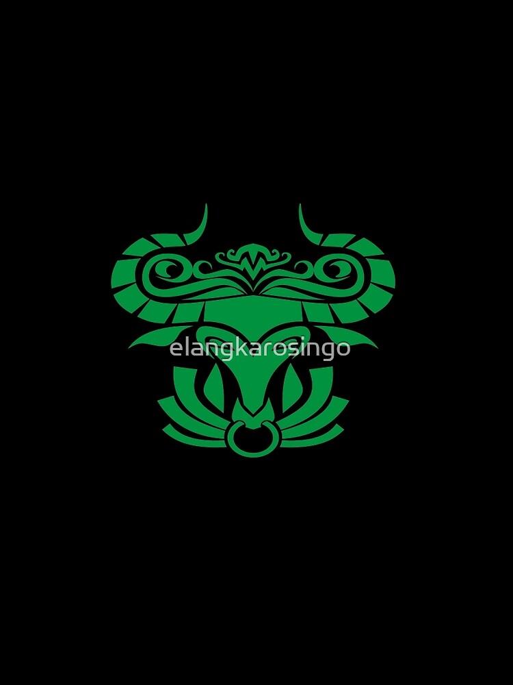 Zodiac Sign Taurus Green by elangkarosingo