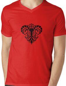 Zodiac Sign Aries Black Mens V-Neck T-Shirt