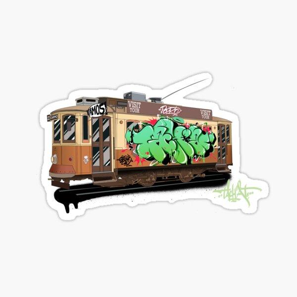 Porto Old Tram Sticker