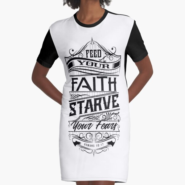 Feed Your Faith Graphic T-Shirt Dress