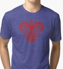 Zodiac Sign Aries Red Tri-blend T-Shirt