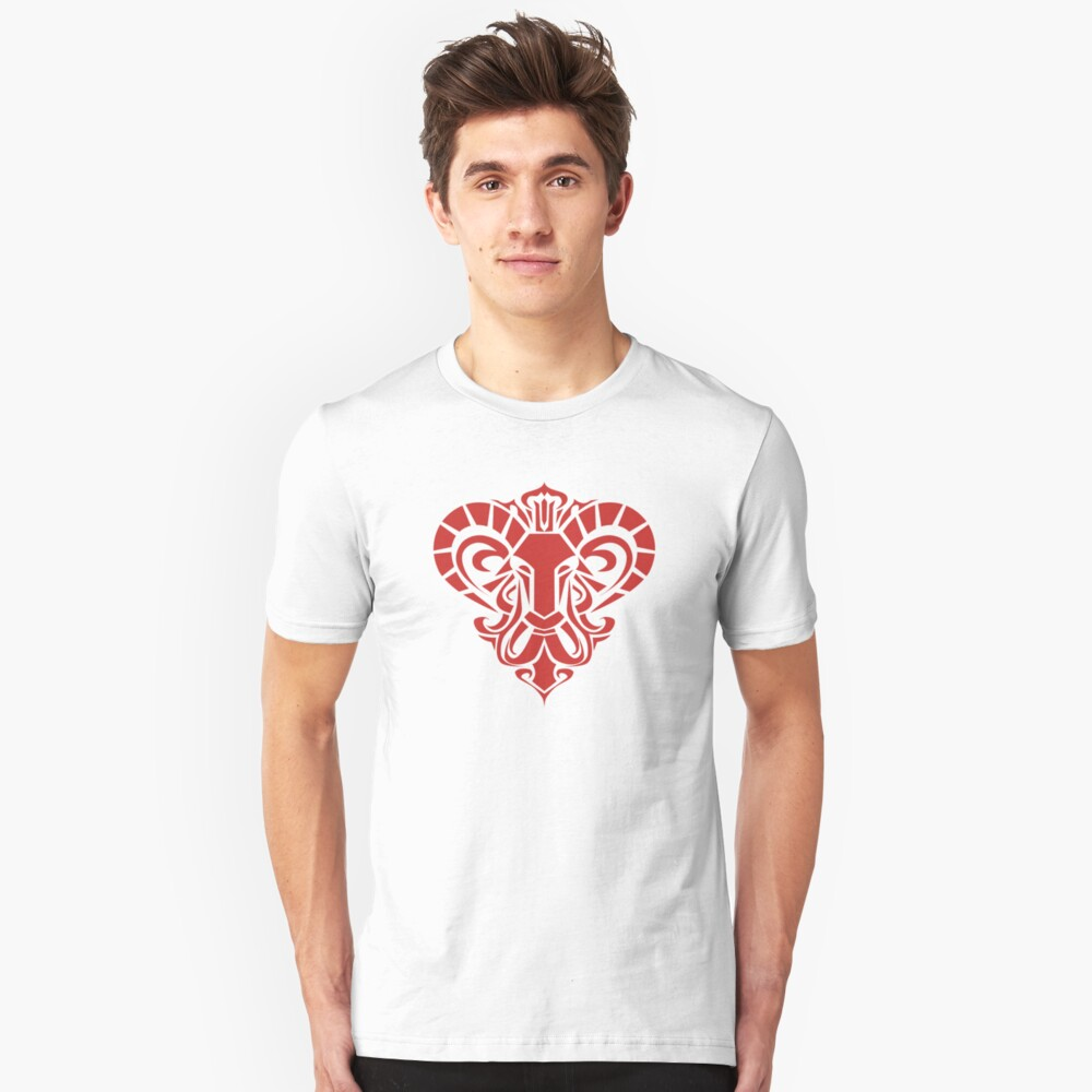 Zodiac Sign Aries Red Unisex T-Shirt Front