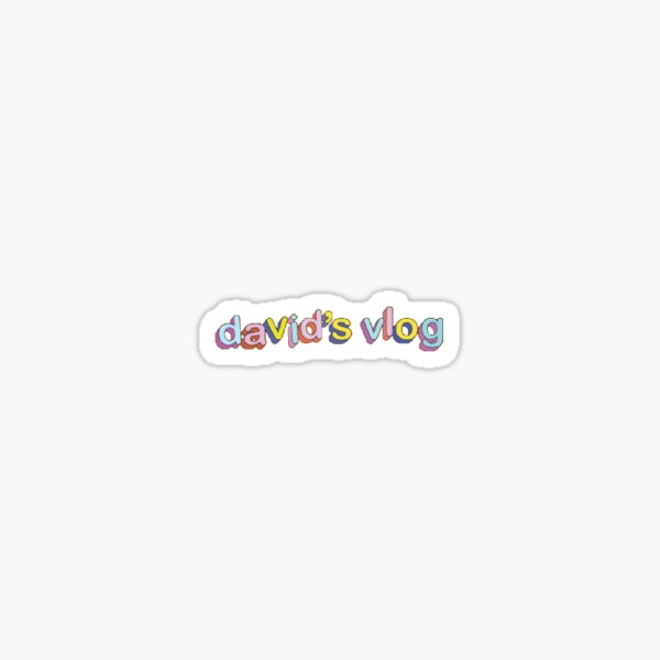 David's Vlog  Sticker