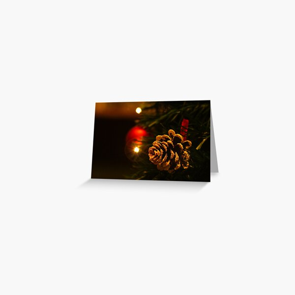 Christmas Pinecone Greeting Card