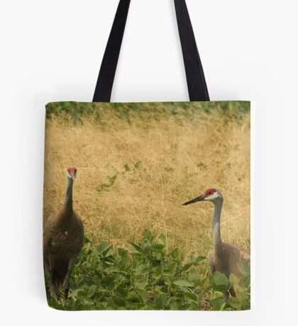 Pair of Sandhill Cranes Tote Bag