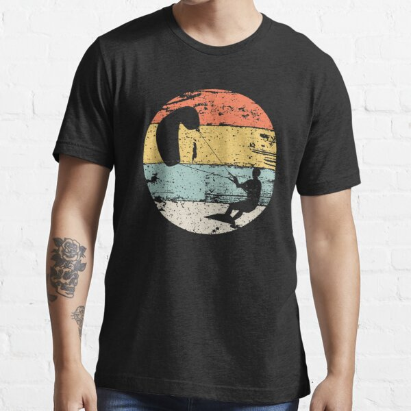 Kite Boarding Kiteboarder Retro Vintage Look Gift Essential T-Shirt