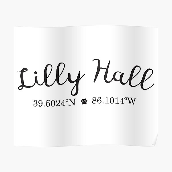 Lilly Hall Coordinates - Butler University Poster